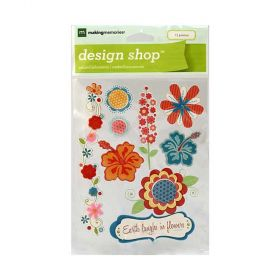 Adesivo Making Memories - DS Stickers Nature Summer Flowers - 34876