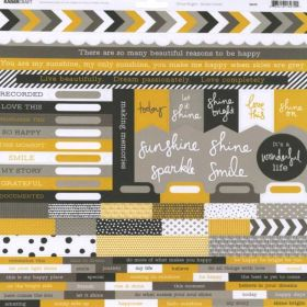 Adesivo Scrap Kaiser Craft - Shine Bright - Sticker Sheet
