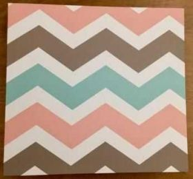 Álbum com Pino Oficina do Papel com 10 Plásticos - Chevron 30 x 30 cm