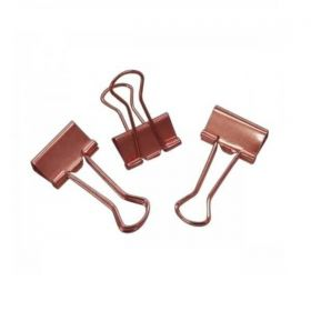 Binder Clips Tilibra - Ouro Rose 19mm - 12 Unidades