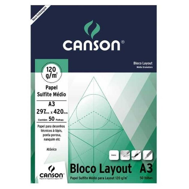 Bloco Canson Layout - 120g A3