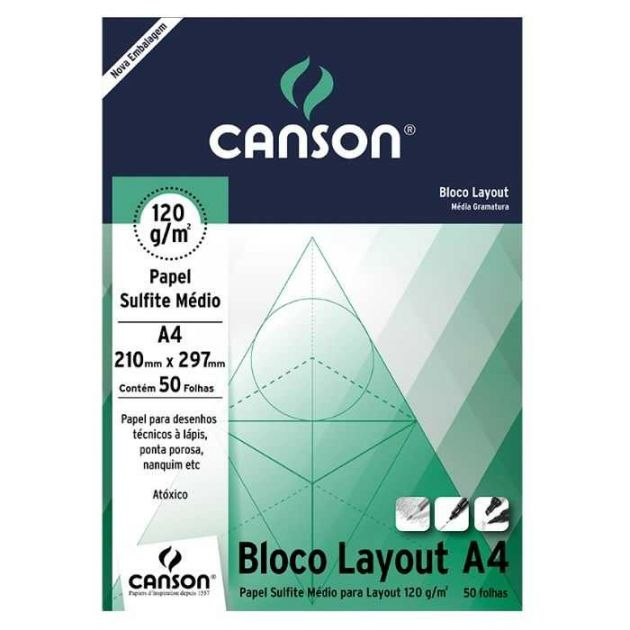 Bloco Canson Layout - 120g A4