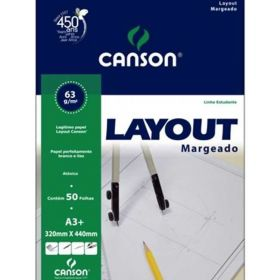Bloco Canson Layout - 63g A3 (Margeado)