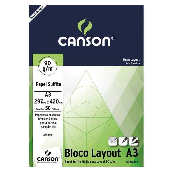 Bloco Canson Layout  90g - A3