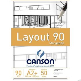 Bloco Canson Layout - 90g A2 (Margeado)