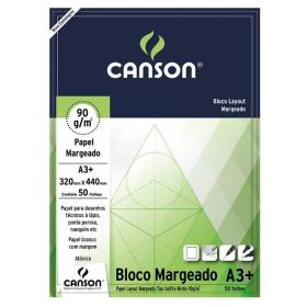 Bloco Canson Layout 90g A3 (Margeado)