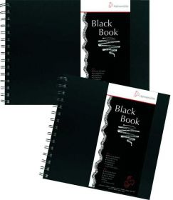 Bloco Hahnemühle Black Book - 250g/m² 23,5 x 23,5 cm