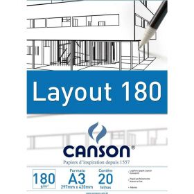 Bloco Canson Layout - 180g A3