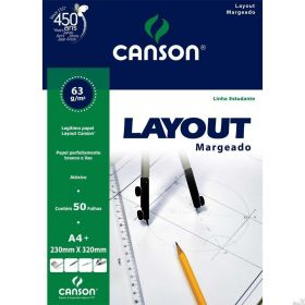 Bloco Canson Layout 63g - A4 (Margeado)