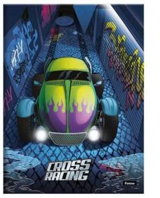 Caderno Brochura 1/4 Cross Racing - Foroni - 96 Folhas