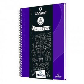 Caderno Canson (Oxford) 90g/m² - 80 Fls - Roxo