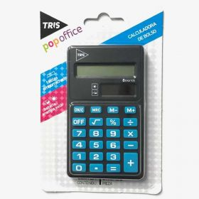 Calculadora de Bolso Tris Pop Office - 8 Dígitos Azul