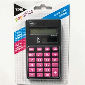 Calculadora de Bolso Tris Pop Office - 8 Dígitos Rosa