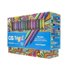 Caneta Gel Cis Trigel Display com 60 Cores