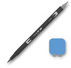 Caneta Tombow Dual Brush 476 - Cyan