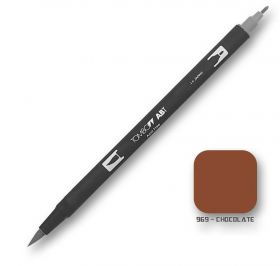 Caneta Tombow Dual Brush 969 - Chocolate