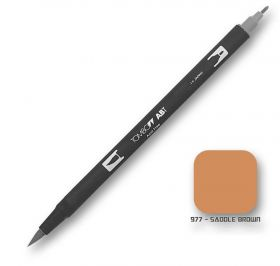 Caneta Tombow Dual Brush 977 - Saddle Brown