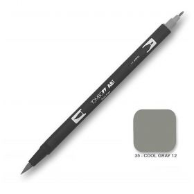 Caneta Tombow Dual Brush N35 - Cool Gray 12