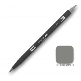 Caneta Tombow Dual Brush N45 - Cool Gray 10