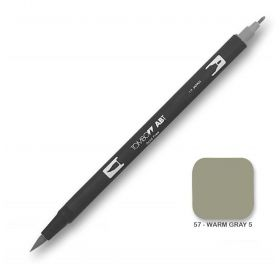 Caneta Tombow Dual Brush N57 - Warm Gray 5