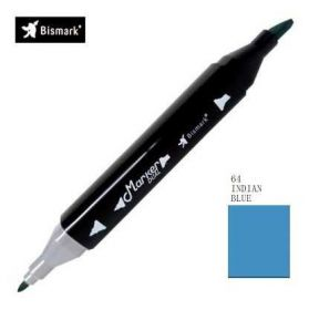 Caneta Yes Marker Dual BYZmark 64 - Indian Blue