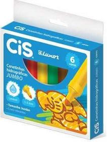 Canetinha ColorCis JUMBO - 6 Cores