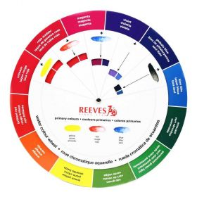 Circulo Disco Cromatico Reeves Aquarela Color Wheel