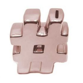 Cofre Decorativo Hashtag Rose Gold - 45058