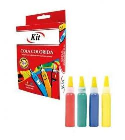 Cola Colorida Kit - 4 Cores - 25g Cada
