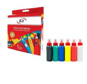 Cola Colorida Kit - 6 Cores - 25g Cada