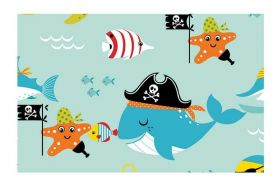 Adesivo Con-Tact Decorado (45cm x 10m) - Piratas do Mar