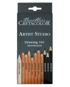 Estojo de Lápis para Esboço Cretacolor - Artist Studio Drawing 101 Introduction