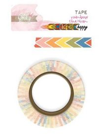 Fita Decorativa Adesiva Washi Tape Glitz Color Me Happy - Rainbow Chevron