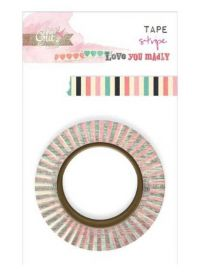 Fita Decorativa Adesiva Washi Tape Glitz Color Me Happy - Stripe