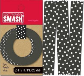 Fita Decorativa Adesiva Washi Tape K&Company Smash - Black Dots