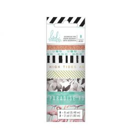 Fita Decorativa Adesiva Washi Tape Pineapple Crush Heidi Swapp - 8 Unidades