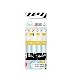 Fita Decorativa Adesiva Washi Tape Playful Heidi Swapp - 8 Unidades