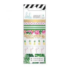 Fita Decorativa Adesiva Washi Tape Tropical Heidi Swapp - 8 Unidades