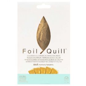 Foil Quill em Folha 10x15cm Gold We R Memory Keepers - 30 Unidades
