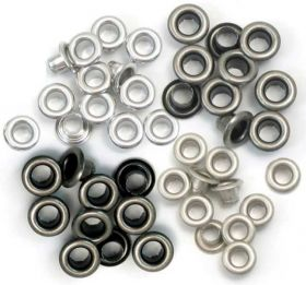Ilhós Standard Eyelets We R Memory Keepers - Cool Metal - 60 Unidades
