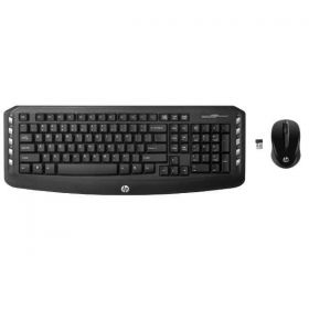 Kit Teclado + Mouse Wireless HP Preto - LV290