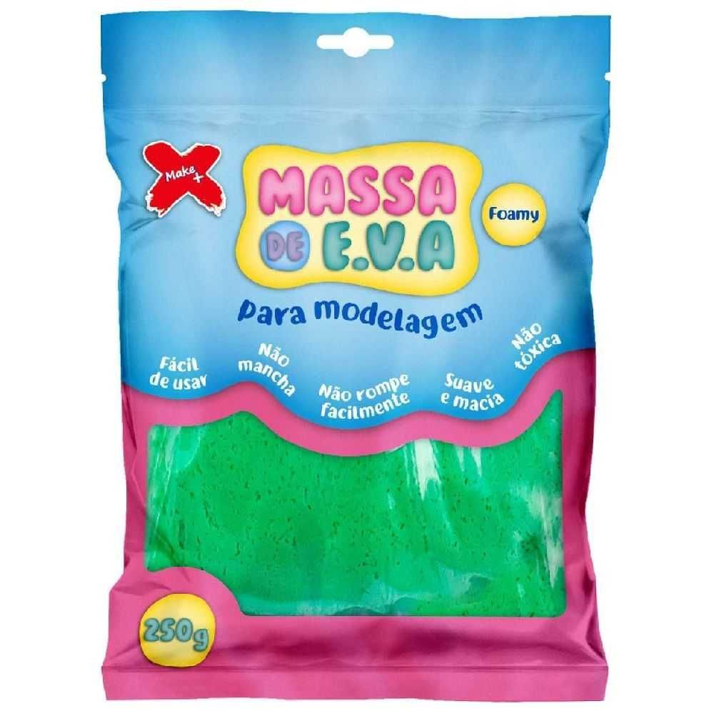 Massa de E.V.A. Foamy 250g Verde Escuro - Make+