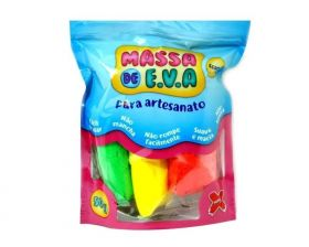 Massa de E.V.A. Foamy 50g 10 Cores - Make+