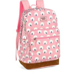Mochila Escolar Luxcel Up4You By Maisa - Cachorros Rosa
