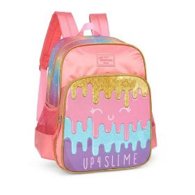 Mochila Escolar Luxcel Up4You Slime 3 Bolsos