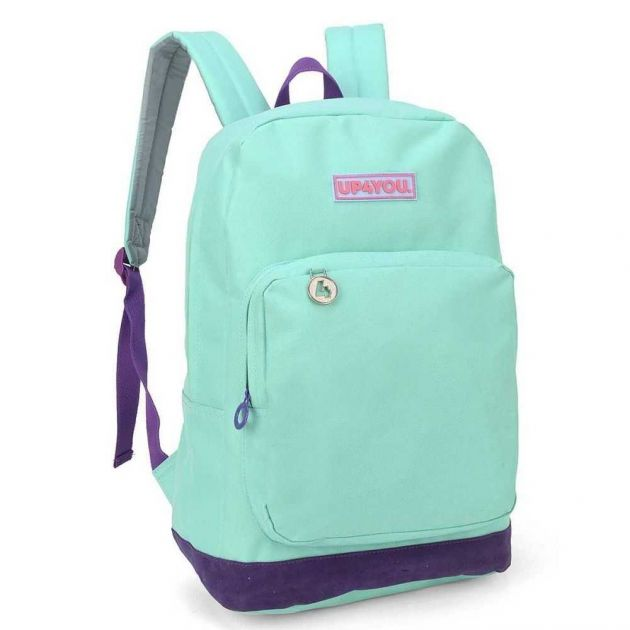 Mochila Escolar Up4You Verde - Luxcel