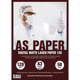 Papel Digital USA Folien Matte Laser 120g A3 - 50 Folhas