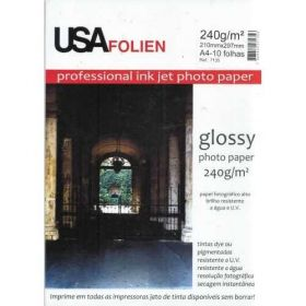 Papel Fotográfico A4 240g/m² Glossy Professional 10 Folhas