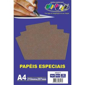 Papel Kraft Natural A4 180gr Off Paper - 50 Folhas