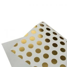 Papel Scrap VSP Hot Decor Bolinhas Branco